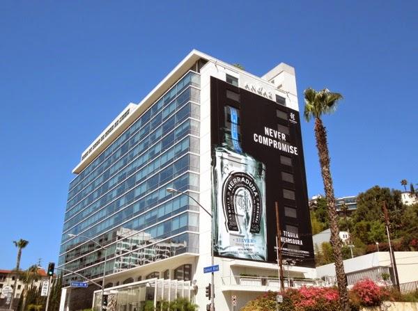 Giant Tequila Herradura Never Compromise billboard