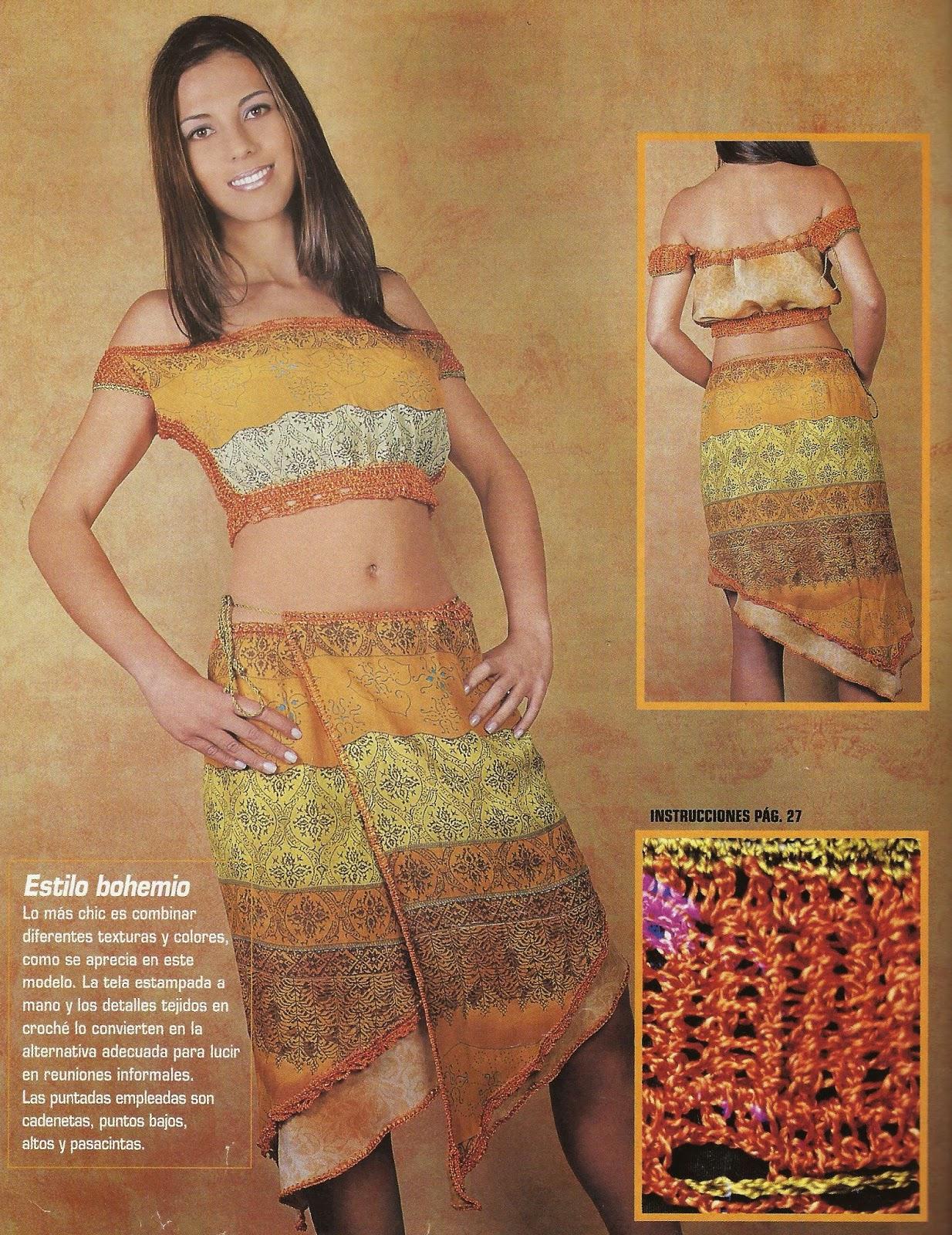 Conjunto Naranja a Crochet