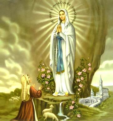 Imagen de Nuestra Señora de Lourdes (Patrona de los enfermos por antonomasia)