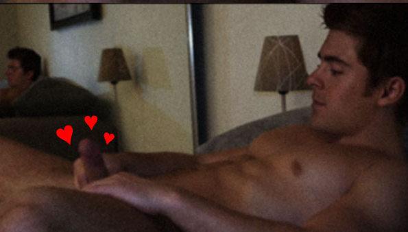 Zac effron naked with boner and cum