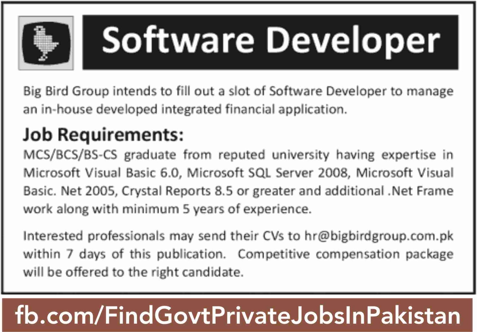 software developer job ads