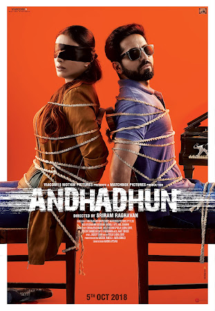 Poster Of Bollywood Movie Andhadhun 2018 300MB Pdvd Full Hindi Movie