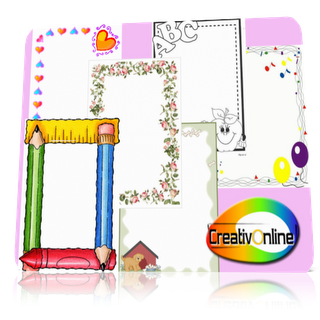 Mega Pack Bordes Decorativos Cute Girly