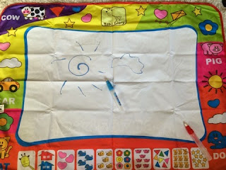 водные маркеры и коврик для рисования малышам