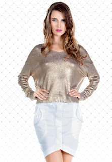 Das stilvolle metallic knit