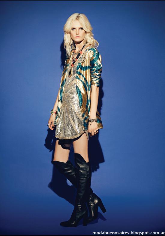 Moda otoño invierno 2014 Rapsodia tunicas y camisas.