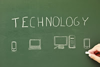 technology chalboard