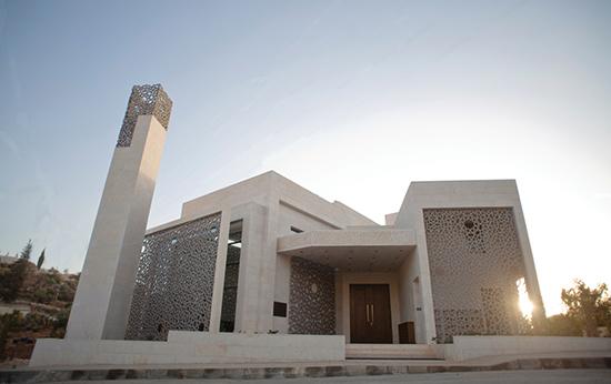 desain masjid mungil modern minimalis