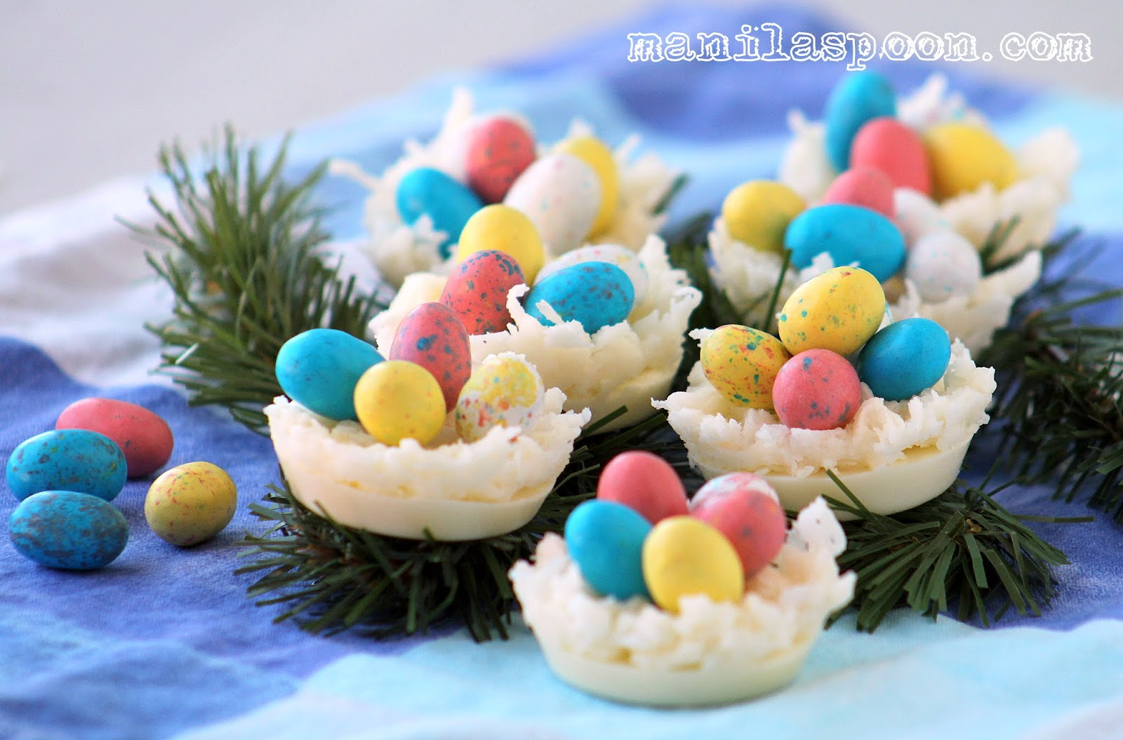 White Chocolate And Coconut Egg Nests Manila Spoon