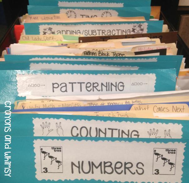 crayons and whimsy filing organization