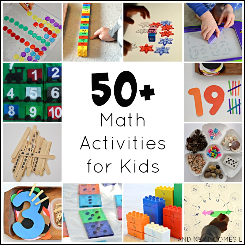 50+ math activities for kids - And Next Comes L for Fun at Home with Kids