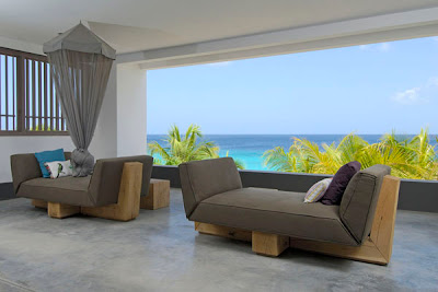 modern couch -  caribbean