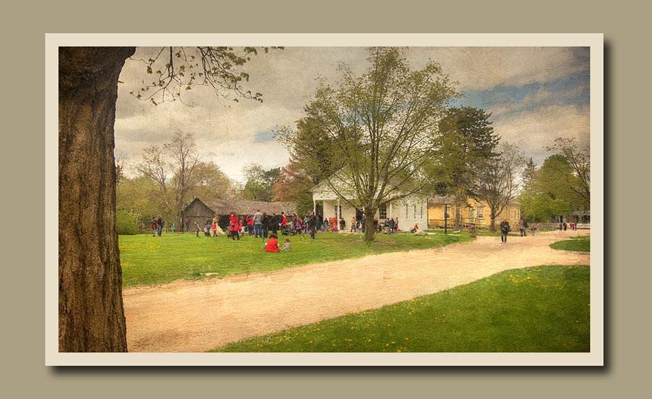 Children gathering for Cinderalla Ball. Pirates and Princesses Black Creek Pioneer Village.