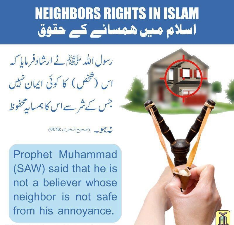 the rights of neighbors in islam