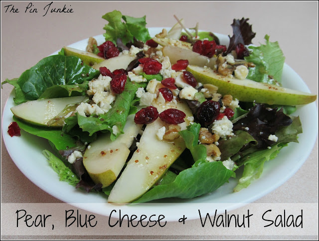 Pear, Blue Cheese Walnut Salad