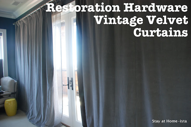 restoration hardware vintage velvet curtains in fog