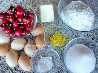 Prajitura cu cirese ingrediente reteta