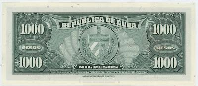 cubano 1000 Pesos