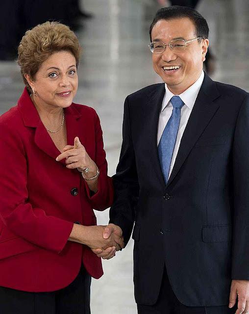 Dilma e Li Keqiang prometendo o que não tem e que não vai dar.