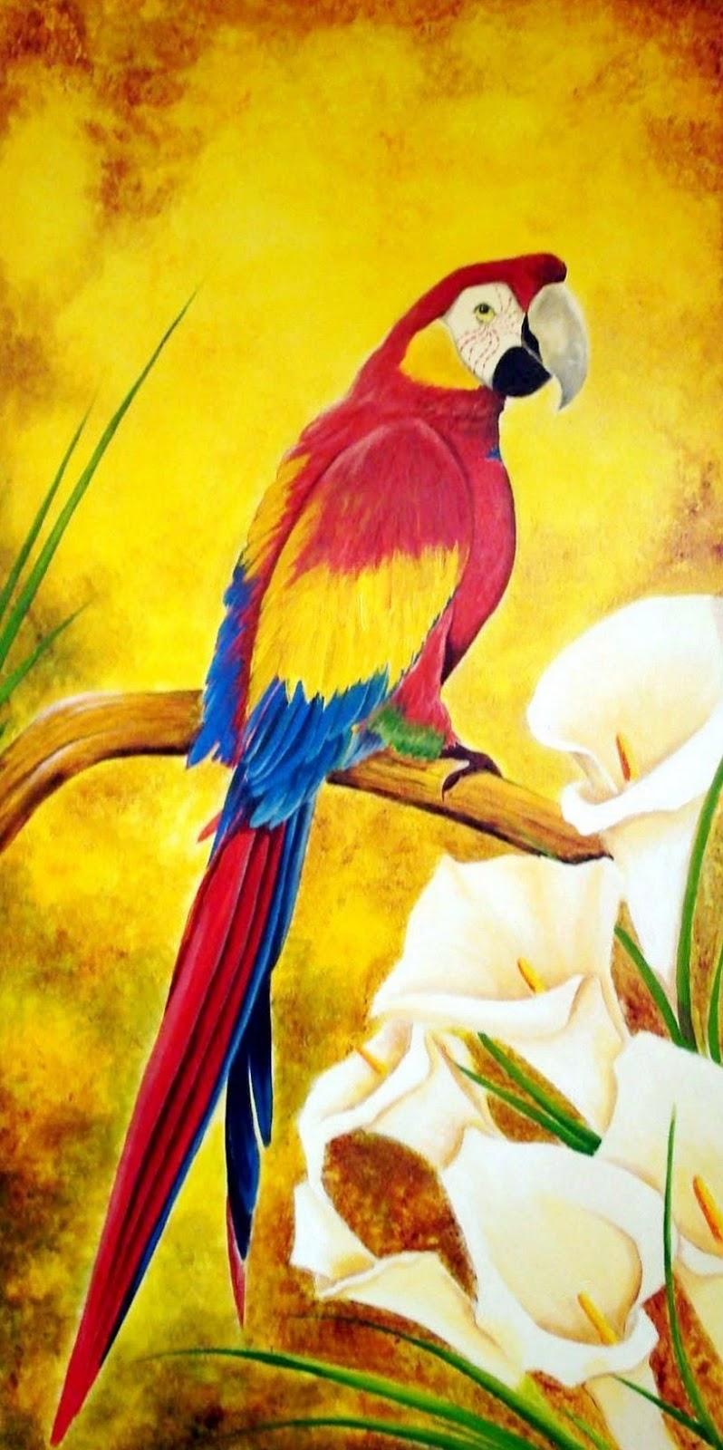 Im genes arte pinturas cuadros de aves ex ticas al oleo - Cuadros de pintura ...