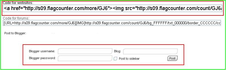 Bộ đếm lượt truy cập Blogspot có biểu tượng lá cờ từ flagcounter 4