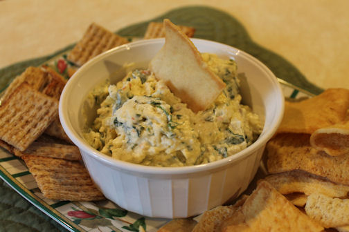 Just One Donna!: Making Spinach Artichoke Dip with Fresh Spinach