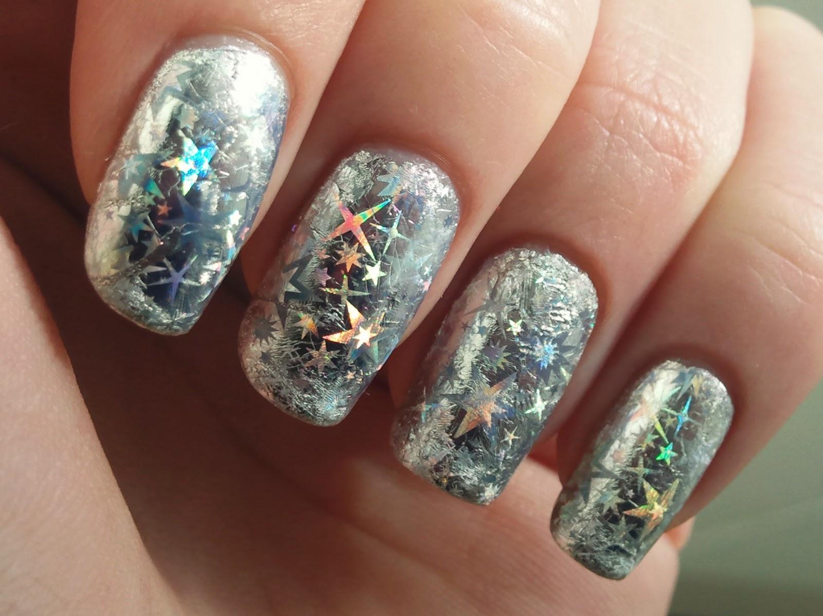 Spektor's Nails: Nail Art Foil: Silver Starburst