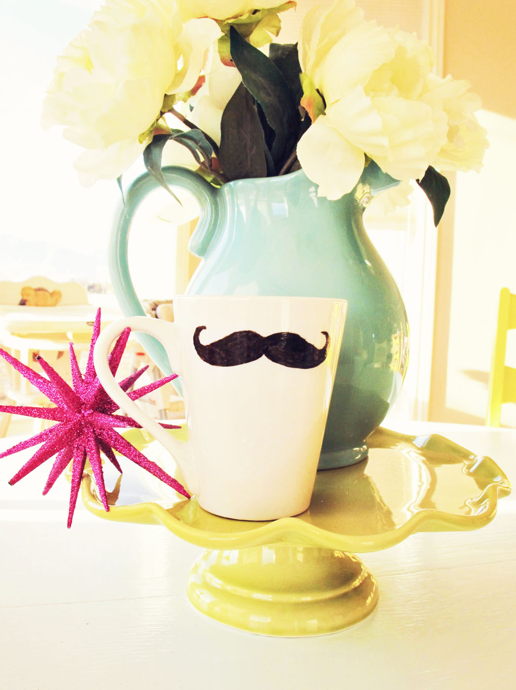 Kaffebecher mit Bart
