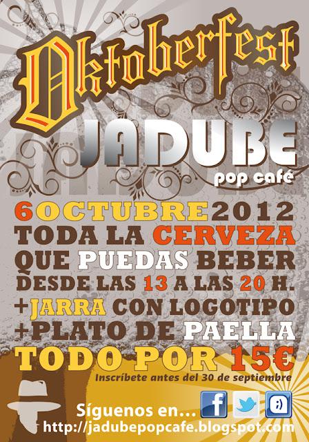 Cartel realizado para el cliente Jadube durante la promoción de la fiesta anual Oktoberfest.