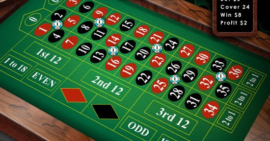 Roulette betting against patterns
