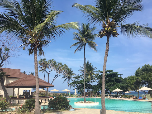 The pool area at Amani Tiwi Beach Resort, Kenya
