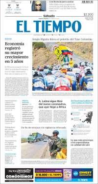 15/02/2020  PRIMERA PAGINA DE EL COLOMBIANO  DE COLOMBIA