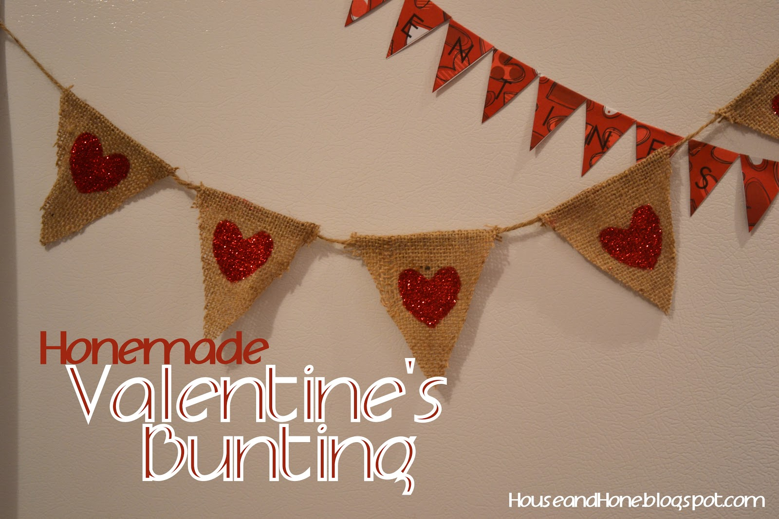 House and Hone: Valentines Bunting with Free Pattern!