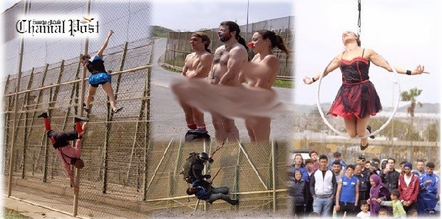 صور : عروض إبداعية احتجاجا على غياب حقوق الانسان في الحدود مع مليلية المحتلة
