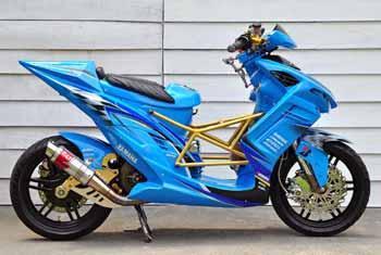 contoh modifikasi mio sporty ala motogp