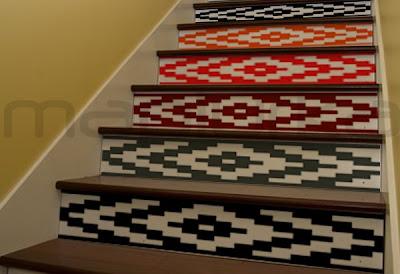 En Vinilo De Corte A 6 Colores  Para Ser Aplicada En Una Escalera