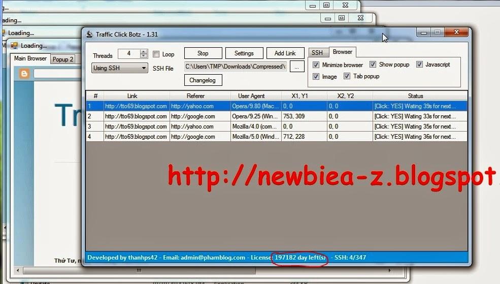 Traffic Click Botz Crack ver 1 3 1 | NewBie _ BloGGer