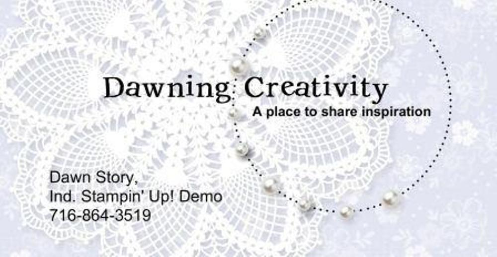 Dawning Creativity, Dawn Story Stampin' Up! Demonstrator