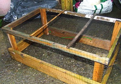 Frame of netting to keep out insects