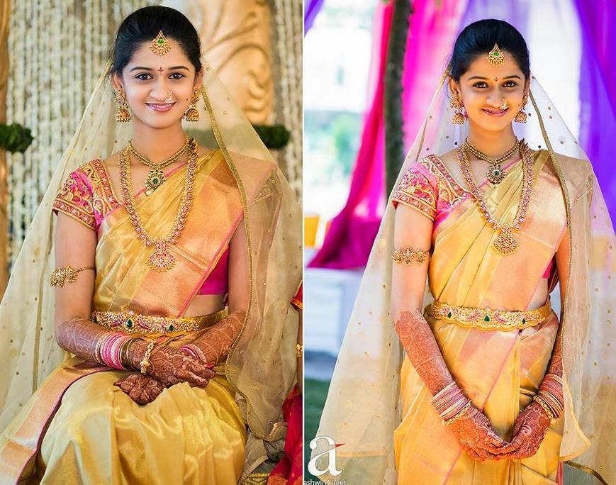 Bride in Bhargavi Kunam Wedding Blouse