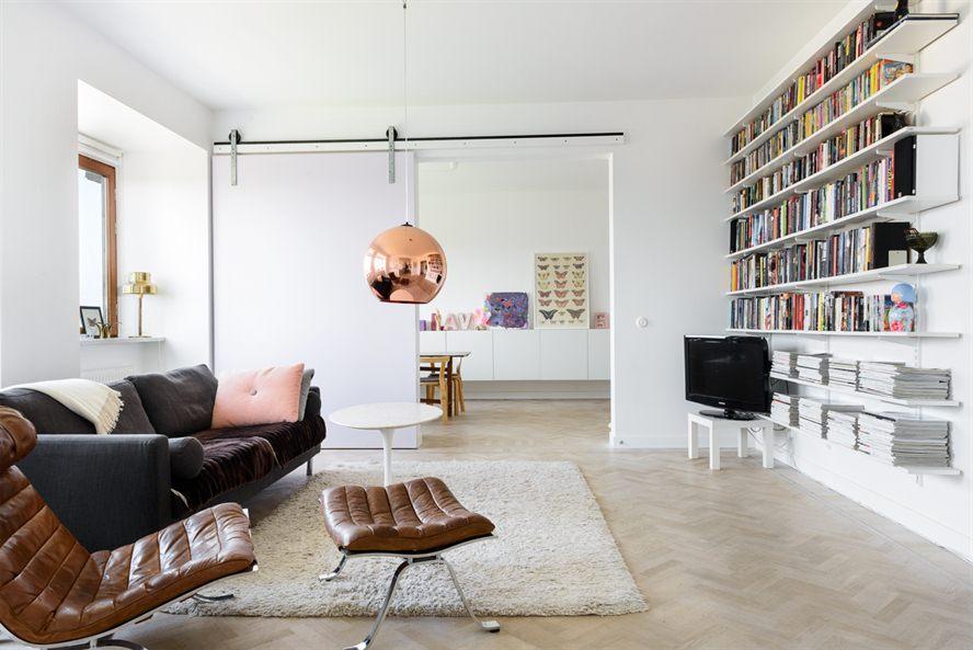 Skandinavisk design Schuifdeur woonkamer