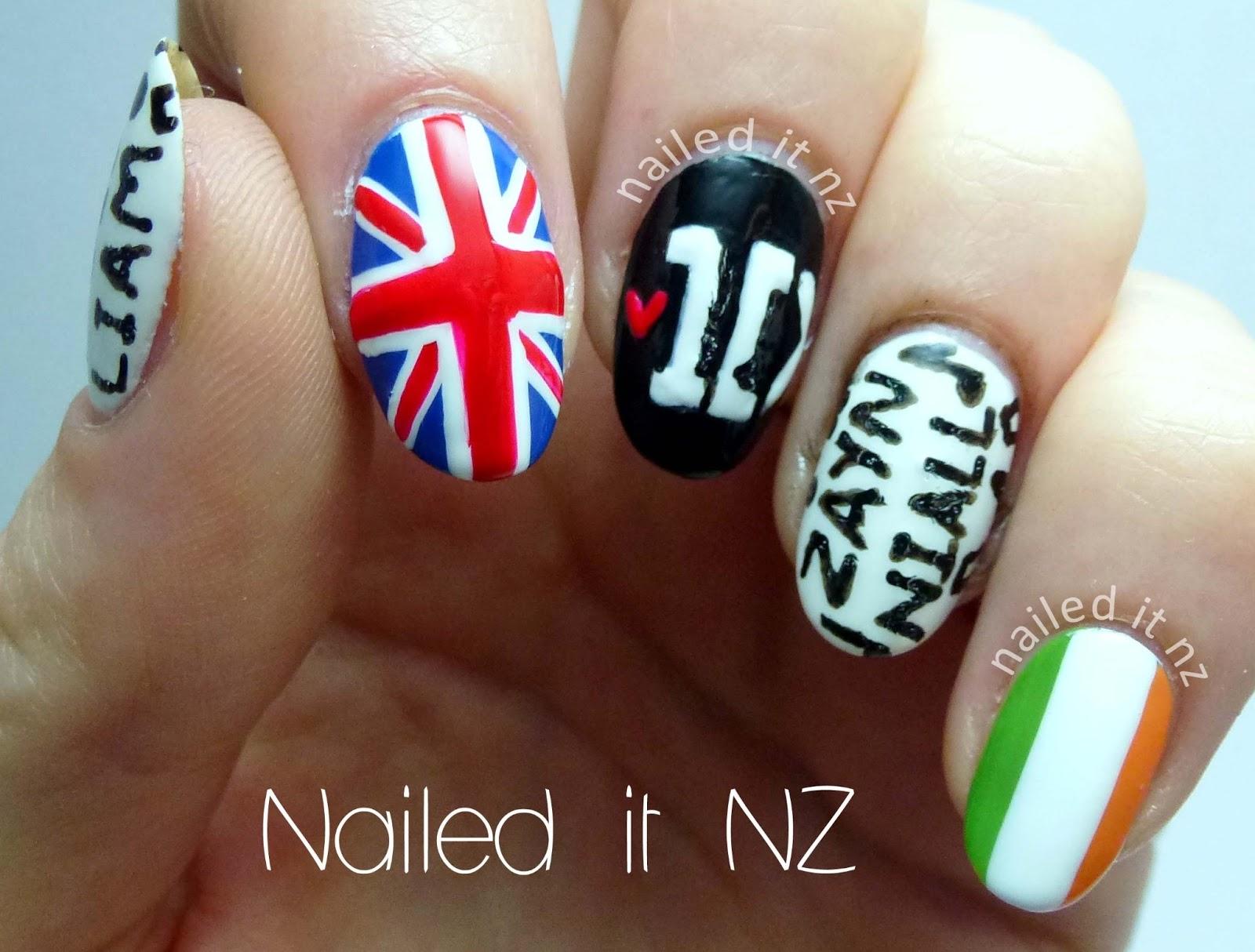 Nailed it nz one direction nail art finally