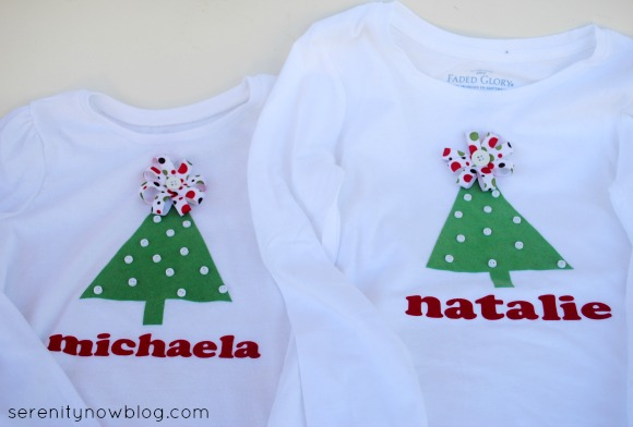 DIY Christmas Tree Shirts, from Serenity Now