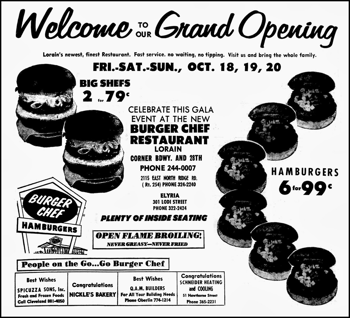 brady s lorain county nostalgia elyria s burger chef today