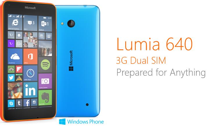 Lumia 640 3G Dual SIM
