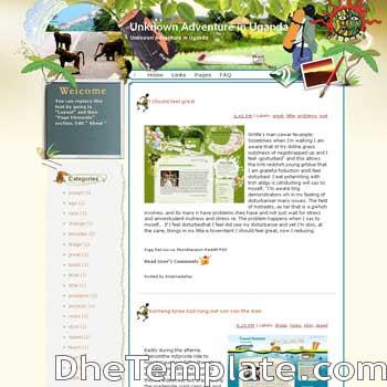 Unknown Adventure in Uganda blogger template