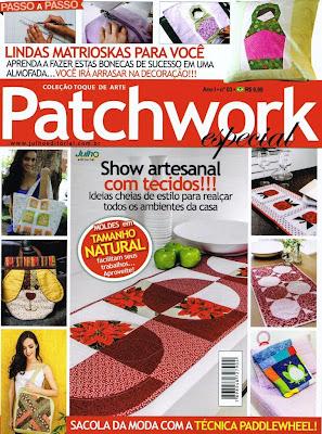 Caminho de mesa em patchwork Círculos e Flores, Patchwork, Caminho mesa patchwork, Revista patchwork, Publicado revista, Publicado revista patchwork