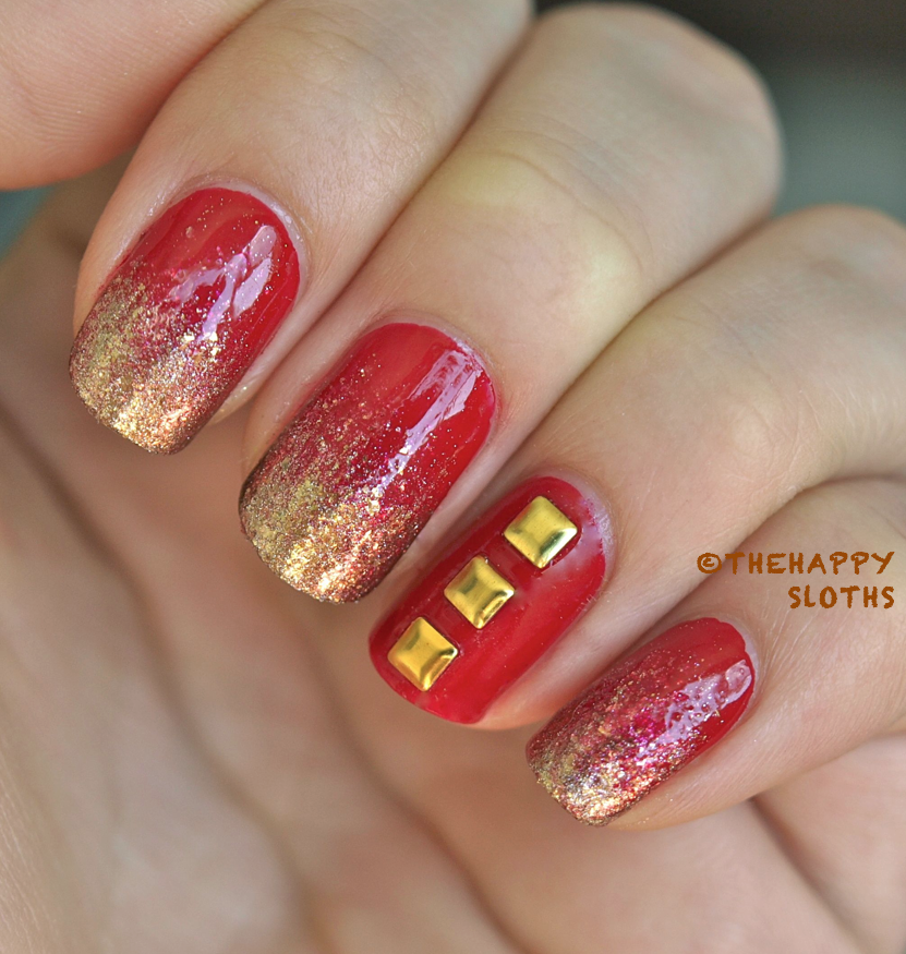 Iron Man Inspired Nails: Manicure Featuring Nail Art Studs | The ...
