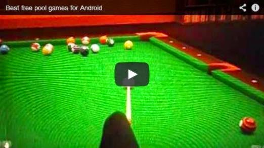 Nice 3D free pool games for Android