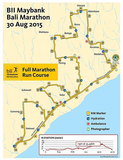 バリ マラソン 2015 レースコース☆Bali Marathon 2015